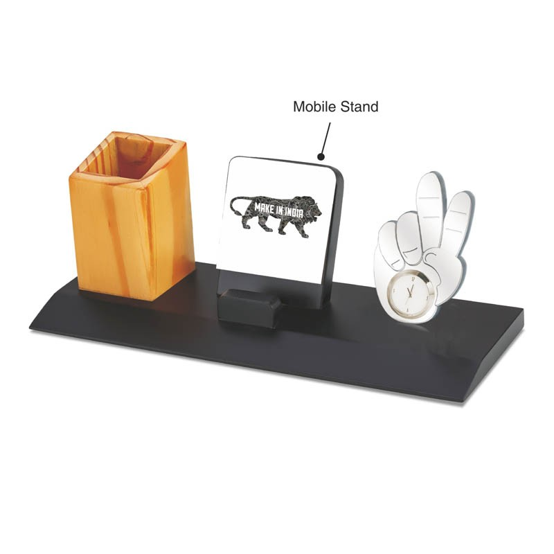 3 in 1 Mobile Stand, Victory Clock & Pen Stand